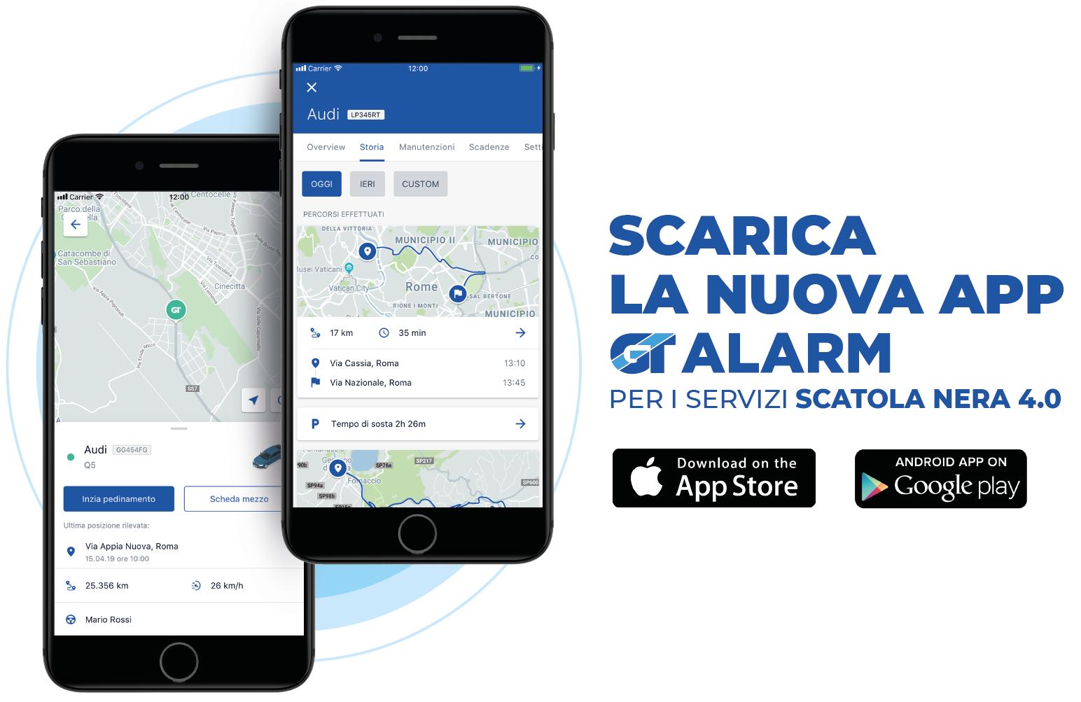 Nuova App GT Alarm